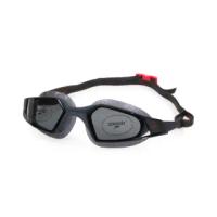 【SPEEDO】AQUAPULSE PRO 成人運動泳鏡-競技 訓練 游泳 海邊 蛙鏡 深灰紅(SD812266D640)