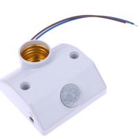 人體感應燈座.感應開關.紅外線感應燈座 可調感光時間感應器【GM413】 123便利屋