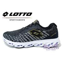 LOTTO樂得-義大利第一品牌 情侶款GALAXY銀河編織風動跑鞋 [6600] 黑【巷子屋】