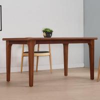 【AT HOME】北歐鄉村5尺胡桃色實木餐桌/工作桌/洽談桌(瑪蒂)