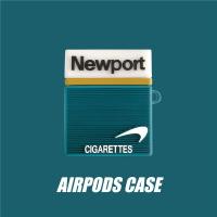 創意英文煙盒AirPods Pro3保護套個性蘋果藍牙耳機軟殼1/2代適用
