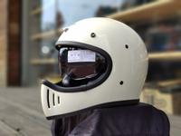任我行騎士部品 Gallop M2 山車帽 內藏墨鏡 全罩 安全帽 #米白
