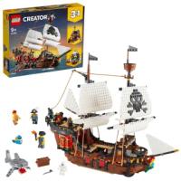 【LEGO 樂高】創意百變系列3合1 海盜船 31109 海盜 模型(31109)