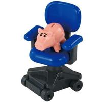 小禮堂 TOMICA 多美小汽車 培根豬 滑輪椅公仔 模型 兒童玩具 (TS-09 藍)