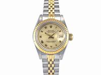 ROLEX錶 勞力士 69173 自動 原裝陽春 中金 女錶 26mm 編號B070824R