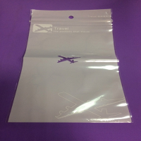 PS Mall 【J2470】PE夾鏈收納袋 33.5*21公分 一面白色珍珠模 一面透明