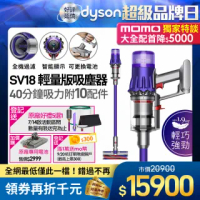 【dyson 戴森】Digital Slim Fluffy Extra SV18 輕量無線吸塵器(全配組)