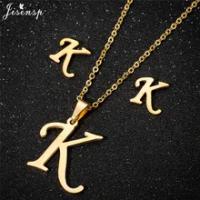 Jisenspปรับแต่งA-Zตัวอักษรจี้สร้อยคอทองคำเริ่มต้นสร้อยคอCharmsสำหรับผู้หญิงเครื่องประดับDropshipping