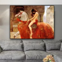 Home Decor Lady Godiva By John Collie Nude Woman Canvas Painting Posters And Prints Scandinavian Wall Pop Art Picture Oil Paint