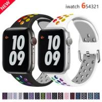 สำหรับApple Watch Band 40มม.44มม./42มม./38มม.ซิลิโคนเข็มขัดสร้อยข้อมือกีฬาIWatch Series 5 4 3 2 40 38 42 44มม.