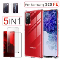 S20 FE Case, Clear Cover for Samsung Galaxy S20 FE Case Samsung S20FE Screen Protector camera lens glass Samsung S20 FE Case
