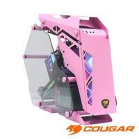 【COUGAR 美洲獅】CONQUER MINI PINK 開放式電腦機殼 鋼化玻璃 鋁合金架構機箱 機殼(Mini ITX / Micro ATX)