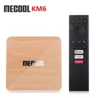 MECOOL KM6 Deluxe Edtion Wifi 6 Google Certified TV Box Android 10.0 4GB 32GB Amlogic S905X4 1000M LAN Bluetooth 5.0 Set Top Box