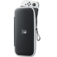 任天堂原廠 Switch  NS 攜行包黑底白邊 附2款螢幕保護貼 收納包 保護包  OLED輕便收納包【預購10月】