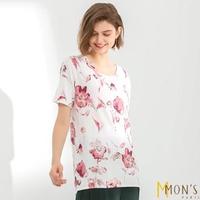 【MON'S】花卉針織上衣