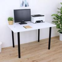 【美佳居】寬120x深80x高75/公分-長方形書桌/餐桌/工作桌/電腦桌(四色可選)