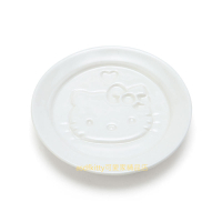 asdfkitty*KITTY大臉陶瓷醬料碟/醬油碟/茶包盤/湯匙架-日本正版商品