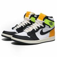 【NIKE 耐吉】籃球鞋 AIR JORDAN 1 HIGH OG VOLT GOLD 反轉鞋標 螢光綠 AJ1 黑腳趾 高筒 男(555088-118)