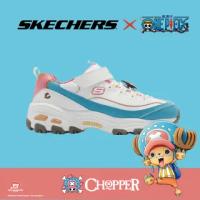 【SKECHERS】休閒鞋 D LITES 4.0 海賊王 聯名 童鞋 One Piece 喬巴 航海王 魔鬼氈 白 彩(317000-LWBPK)
