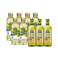 【得意的一天】100% pure 葵花/橄欖油9罐組(100%純葵花油1L*6瓶+100%義大利橄欖油1L*3瓶)
