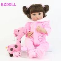 """40Cm Full Body Silikon Reborn Boneka Bayi Mainan 15 """"Soft Vinyl Putri Mini Gadis Bayi Boneka Hadiah Ulang Tahun bermain Rumah Mandi Mainan"""