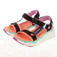 【SKECHERS】女 健走系列涼鞋 MAX CUSHIONING SANDAL(140125BKMT)