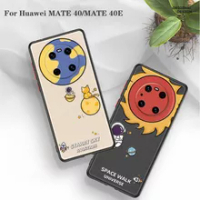 For Huawei MATE 40/MATE 40/MATE 40 pro/MATE 40 Pro+ Phone Case Half-wrapped Case Cartoon Anti-Scratch Case Back Cover