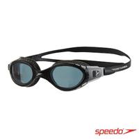 【SPEEDO】成人 運動泳鏡 Futura Biofuse(黑灰)