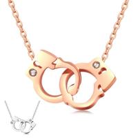 【I.Dear Jewelry】銬心-西德鋼-造型手銬晶鑽鈦鋼手鍊(2色)