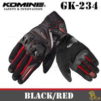 ~任我行騎士部品~KOMINE GK-234 夏季 透氣 碳纖維 皮布混合 防摔 手套 可觸控 2019年款 黑紅