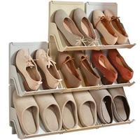 DIY疊加式鞋架 收納鞋架2入組(可堆疊鞋架)