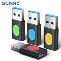 Schitec Universal USB Type C อะแดปเตอร์ OTG USB Type C สำหรับ Android โทรศัพท์มือถือ Mini Type-C แจ็ค Splitter สมาร์ทโฟน USB Type-C