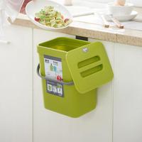 【古德斯】廚房壁掛垃圾桶_5L(有蓋垃圾桶 廚餘桶)
