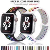 ซิลิโคน Apple Watch สำหรับ Apple Watch 6 / SE / 5 / 4 / 3 / 2 /1กีฬาทางเลือกสายรัดข้อมือ38/40/42/44มม.