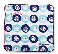 日本製 大賀屋 哆啦A夢 手帕 毛巾 方巾 口水巾 純棉 深藍 幼稚園 嬰兒 幼兒 小叮噹 正版授權 J00014507