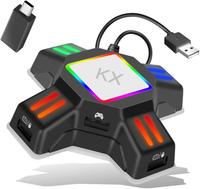 【日本代購】鍵盤/鼠標連接適配器遊戲轉換器 與Nintendo Switch / PS4 / Xbox One相容
