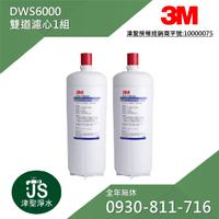【津聖】3M DWS6000雙道替換濾心【買一支濾心也歡迎詢問】【LINE ID: s099099】