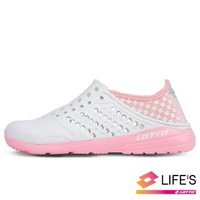 【LOTTO】運動鞋 兒童鞋 潮流洞洞鞋(白粉-LT0AKS2603)