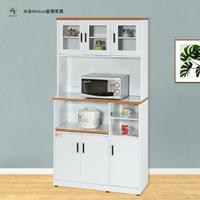 3.3尺七門一拉盤塑鋼電器櫃 塑鋼廚房櫥櫃(上下座)(附插座)【米朵Miduo】