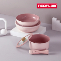 【NEOFLAM】FIKA Midas Plus陶瓷不沾3鍋7件組(IH適用/不挑爐具)