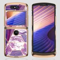 Luxury Plexiglass Plating Fold Case For Motorola Moto Razr 5G Anti-knock Edge Hard Protection Cover For Motorola Razr 5G Case