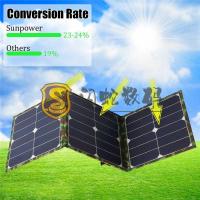 SUNPOWER 晶片 100W太陽能折疊包 單晶太陽能板 戶外充電包充電電腦手機充電--台灣熱門!台灣熱銷!