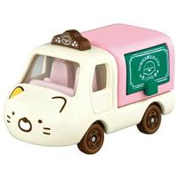 小禮堂 TOMICA多美小汽車 角落生物 造型小貨車 食物攤車 玩具車 模型車 (黃 貓咪)