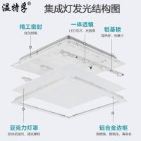 集成吊頂led平板燈廚房衛生間吊頂嵌入式鋁扣板燈30*30*60♠極有家♠
