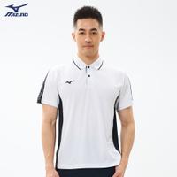 抗紫外線 男款短袖POLO衫 32TA101501(白)【美津濃MIZUNO】