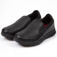 SKECHERS NAMPA 女鞋 休閒 防滑 廚師 工作鞋 寬楦 皮革 黑 【運動世界】77236WBLK