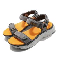 【SKECHERS】涼鞋 Max Cushioning Sandal 男 加厚中底 避震 緩衝 魔鬼氈 回彈 灰 黃(229010GYOR)