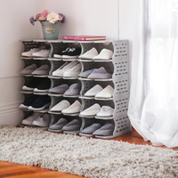 【COLOR HOME】DIY 6層塑膠鞋櫃-1組6層