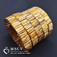 |MSCV|頂級版鈦手排 鈦排 鈦晶 x 水晶之王 x 清透料 x 滿絲版鈦 x 最強招財 x 天然水晶手鍊贈精緻絨布袋