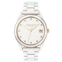 刷卡滿3千回饋5%點數 COACH 浪漫主義風陶瓷時尚腕錶/白14503263